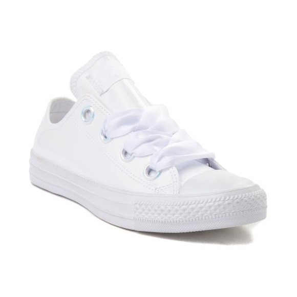 Converse White Patent Leather Shoes